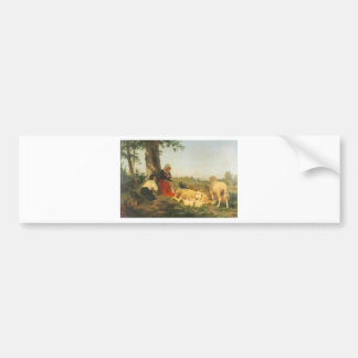 Repose by Rosa Bonheur Bumper Sticker