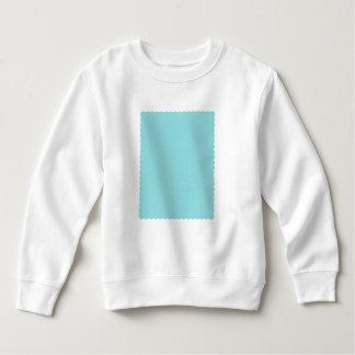 Reposedly Delightful Blue Color Scalloped Edge Sweatshirt