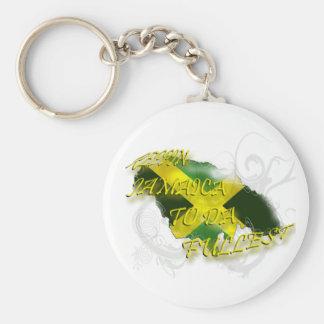 Reppin Jamaica to Da Fullest Keychain