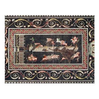 Representation of a mosaic postcard