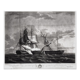 Representation of the US frigate, Poster