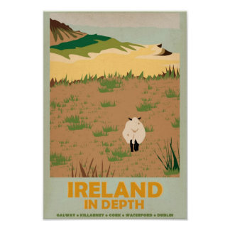 Reprint of a Vintage Irish Travel Poster