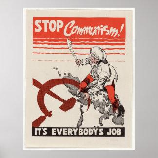Reprint of an Anti Communist Propaganda Poster