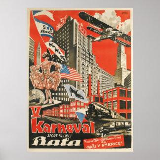 Reprint of an Old Soviet Czech Propaganda Poster
