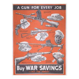 Reprint of British wartime poster. Postcard