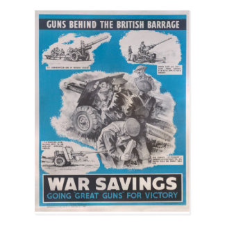 Reprint of British wartime poster. Postcard