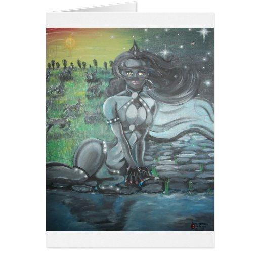 Reprinted painting by David Berbia Greeting Cards