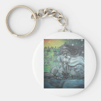 Reprinted painting by David Berbia Keychains