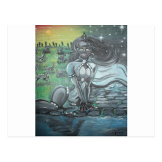 Reprinted painting by David Berbia Post Card