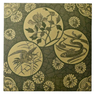 Repro Green Aesthetic Anglo Japonesque Tile