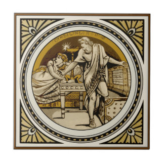 Repro Minton Shakespeare Cymbeline Picture Tile