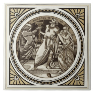 Repro Minton Shakespeare Macbeth Literary Tile