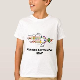Reproduction d'ADN de RSVP (attitude de biologie T-shirt