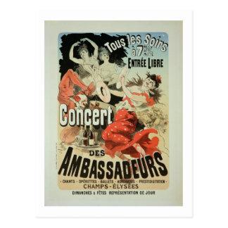 Reproduction of a poster advertising an 'Ambassado Postcard
