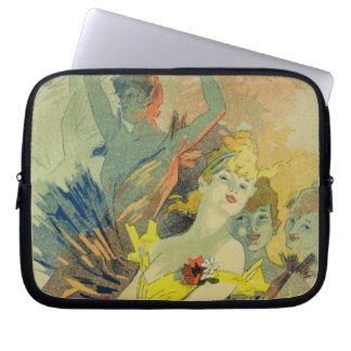 Reproduction of a poster advertising 'Back-Stage a Laptop Sleeve