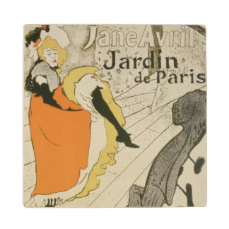 Reproduction of a poster advertising 'Jane Avril' Maple Wood Coaster