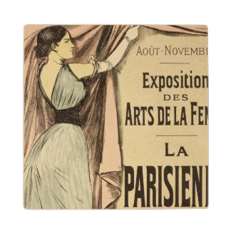 Reproduction of a poster advertising 'La Parisienn Wood Coaster