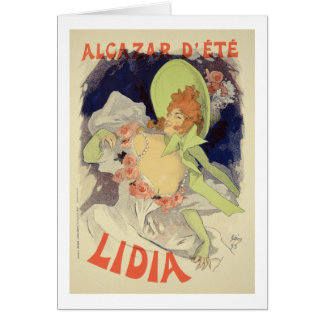 Reproduction of a poster advertising 'Lidia', at t Card