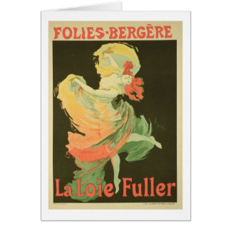 Reproduction of a Poster Advertising 'Loie Fuller' Card