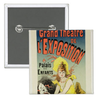 Reproduction of a poster advertising the 'Grand Th 2 Inch Square Button