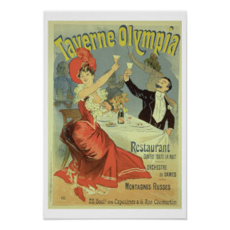 Reproduction of a poster advertising the 'Taverne