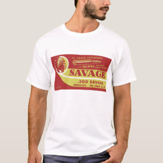 reproduction of a savage 300 ammo box T-Shirt
