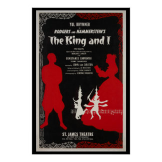 Reproduction Vintage poster The King and I