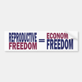 Reproductive Freedom Bumper Sticker