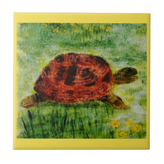 Reptile Animal Art Tortoise Tile
