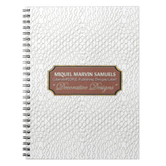 Reptile Decorative#1-b White Modern Notebook
