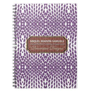 Reptile Decorative White Purple Modern Notebook