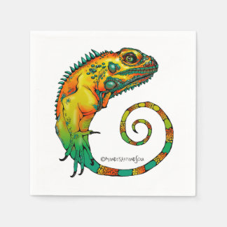 Reptile Napkins for a Birthday Party Paper Napkin
