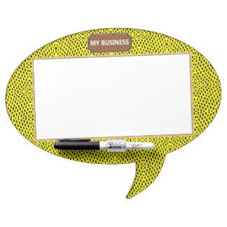 Reptile Oval Speech Bubble Dry Erase Plain Board