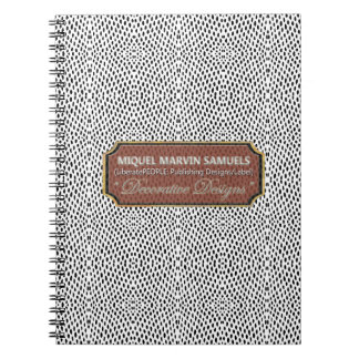 Reptile Pattern Black White Modern Notebook