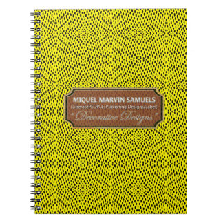 Reptile Pattern Black Yellow Modern Notebook