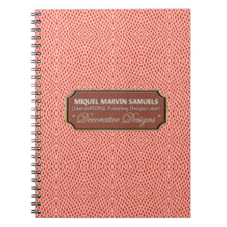 Reptile Pattern Red Pink Modern Notebook