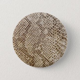 Reptile skin pattern 2 inch round button