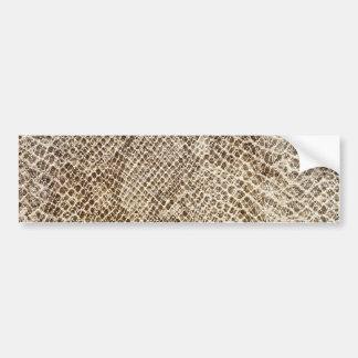 Reptile skin pattern bumper sticker