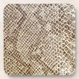 Reptile skin pattern coaster