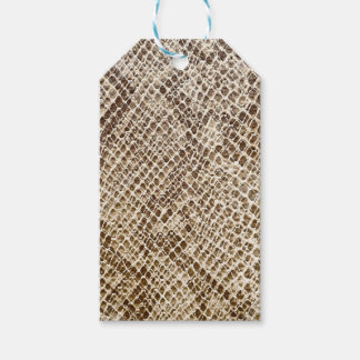 Reptile skin pattern gift tags