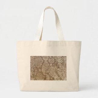 Reptile skin pattern large tote bag