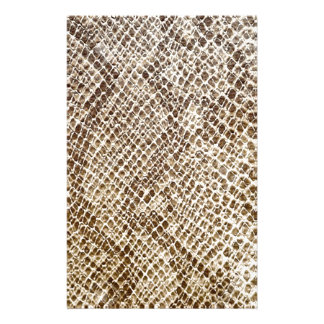 Reptile skin pattern stationery