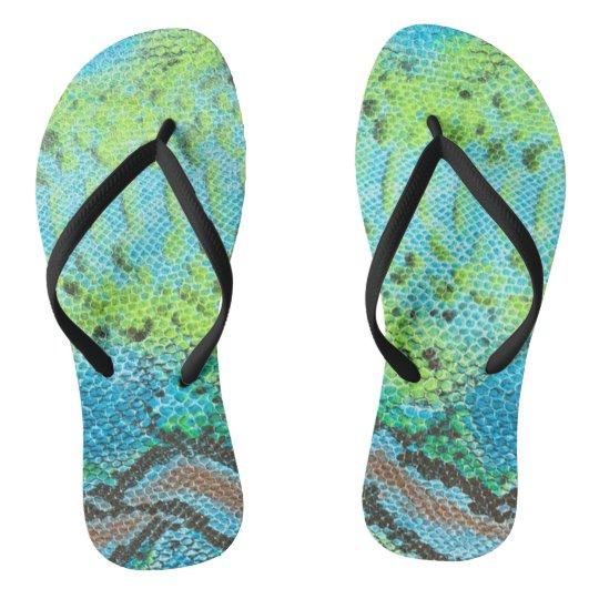 Reptile Skin Snake pattern Adult, Slim Straps Flip Flops