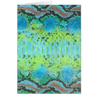 Reptile skin Snake pattern Card