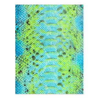 Reptile skin Snake pattern Postcard