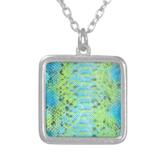 Reptile skin Snake pattern Silver Plated Necklace
