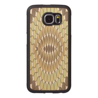 Reptile skin wood phone case