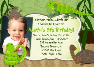 Reptile Birthday Invitations Announcements Zazzle Ca