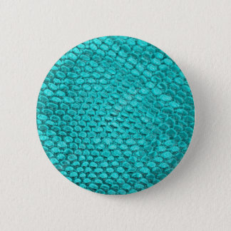 Reptile Turquoise Blue 2 Inch Round Button