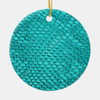Reptile Turquoise Blue Ceramic Ornament